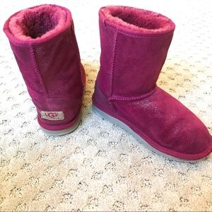 UGG Girls Pink Sparkle Boots Size 2